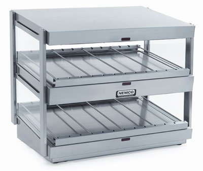 Nemco 6480-30S1 30-in Shelf Merchandiser Dual Stainless 730 W Restaurant Supply