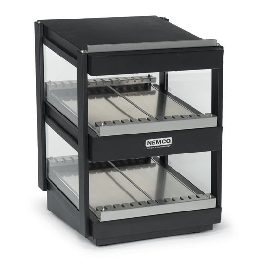 "Nemco 6480-30S-B 30"" Self-Service Countertop Heated Display Shelf - (2) Shelves, 120v"