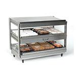 "Nemco 6480-36 36"" Self-Service Countertop Heated Display Shelf - (2) Shelves, 120v"