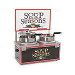 Nemco 6510A-2D7 Soup Warmer w/ Double 7qt Well, Double Thermostat & Header, 1100-Watt, 120/1 V