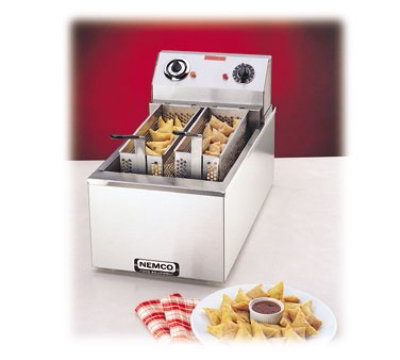 Nemco 6703-240 Countertop 15-lb Fryer, Twin Baskets, 15 Min. Bell Timer, 240 V