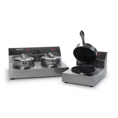 Nemco 7000-2240 Dual Waffle Baker w/ Digital Programmable Control Floating Hinge 7.4-amps 240/1V