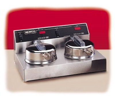 Nemco 7000-2S240 Dual Waffle Baker 7-in Gri Restaurant Supply