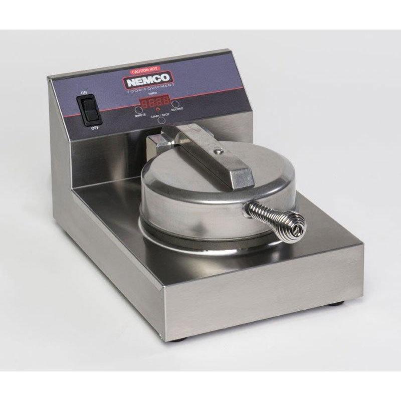 Nemco 7000A-S Single Waffle Baker - 20-Waffle/hr Capacity, Digital Controls 120v