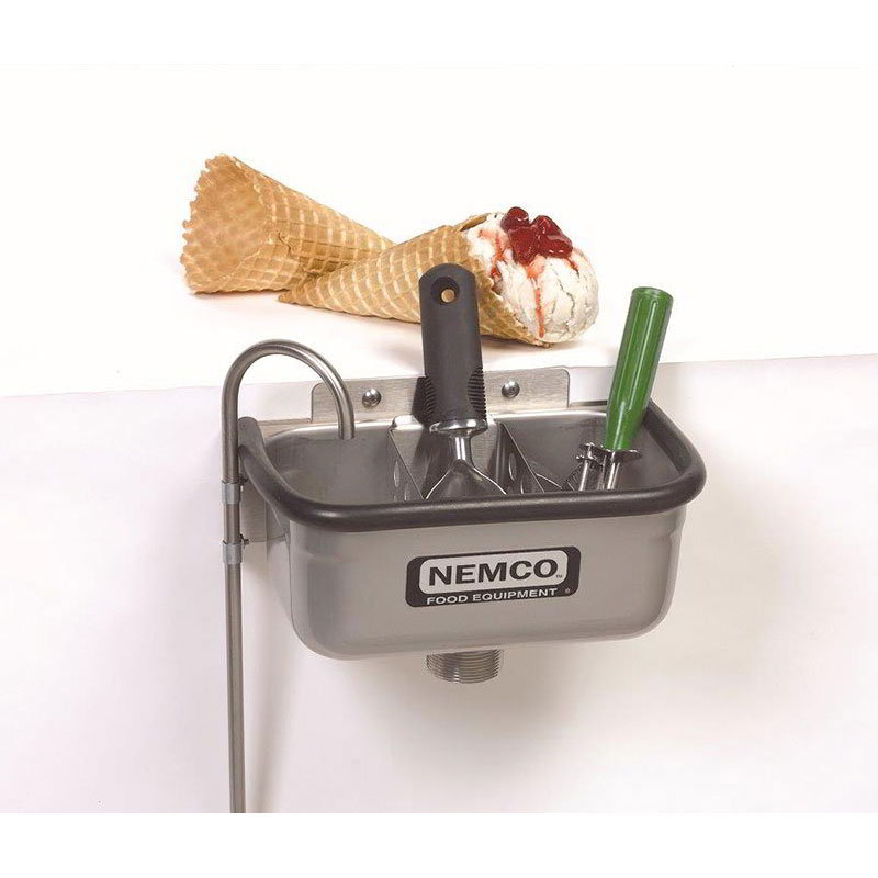"Nemco 77316-10 10"" Spade Cleaning Well w/ .38"" Round Spigot & Rubber Bumper, Stainless"