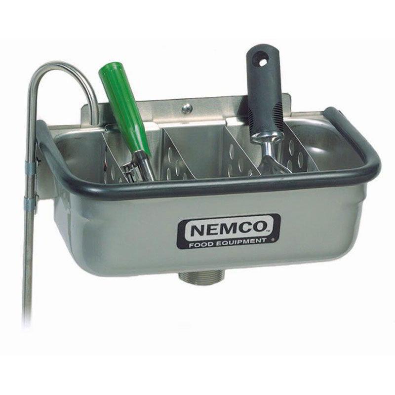 "Nemco 77316-13 13"" Spade Cleaning Well - .38"" Round Spigot & Rubber Bumper, Stainless"