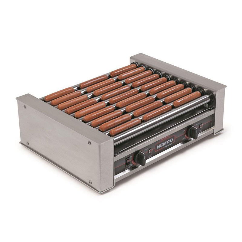 Nemco 8027 27 Hot Dog Roller Grill - Flat Top, 120v