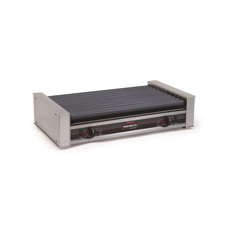 Nemco 8036SX 36 Hot Dog Roller Grill - Flat Top, 120v