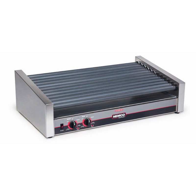 Nemco 8055SXSLT 55 Hot Dog Roller Grill - Slanted Top, 120v