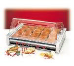 Nemco 8075S-220 Roll-A-Grill Hot Dog Grill, Silverstone Rollers, 75 Dogs, 220V