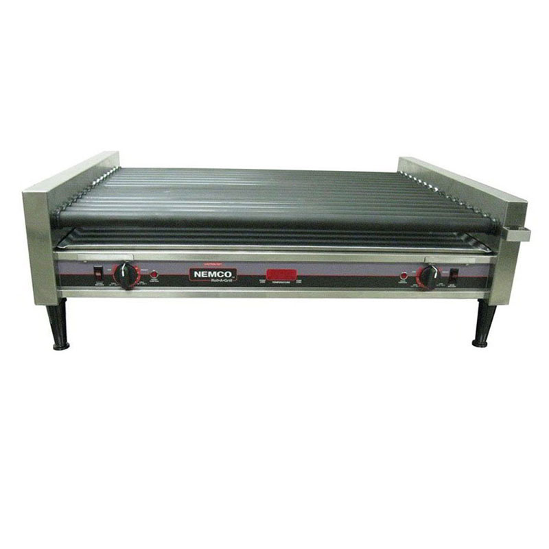 Nemco 8075SXW-SLT-RC 75 Hot Dog Roller Grill - Slanted Top, 120v