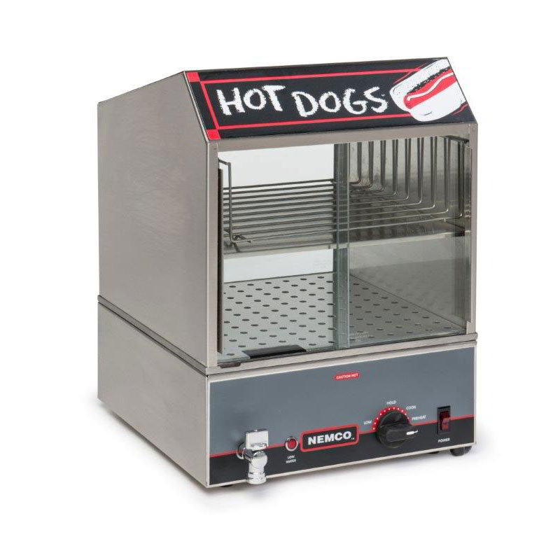 Nemco 8300 Hot Dog Steamer w/ Bun Warmer, 120/1 V
