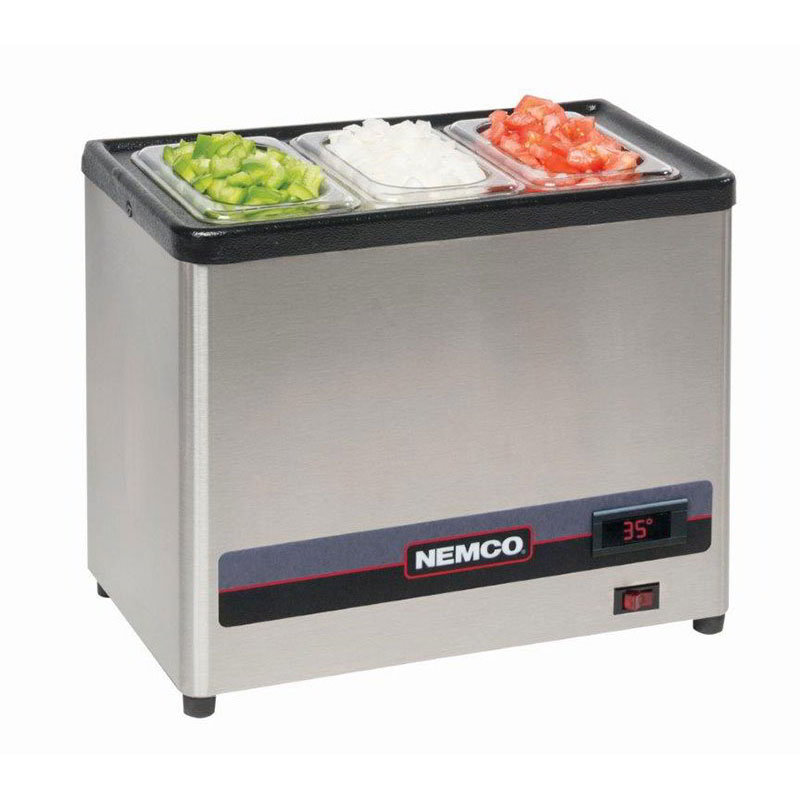 Nemco 9020 Refrigerated Condiment Well Only, Digital, 120v