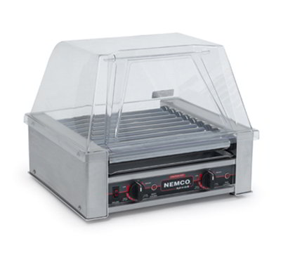 Nemco 8018-220 18 Hot Dog Roller Grill - Flat Top, 220v