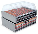 Nemco 8075SX-220 75 Hot Dog Roller Grill - Slanted Top, 220v