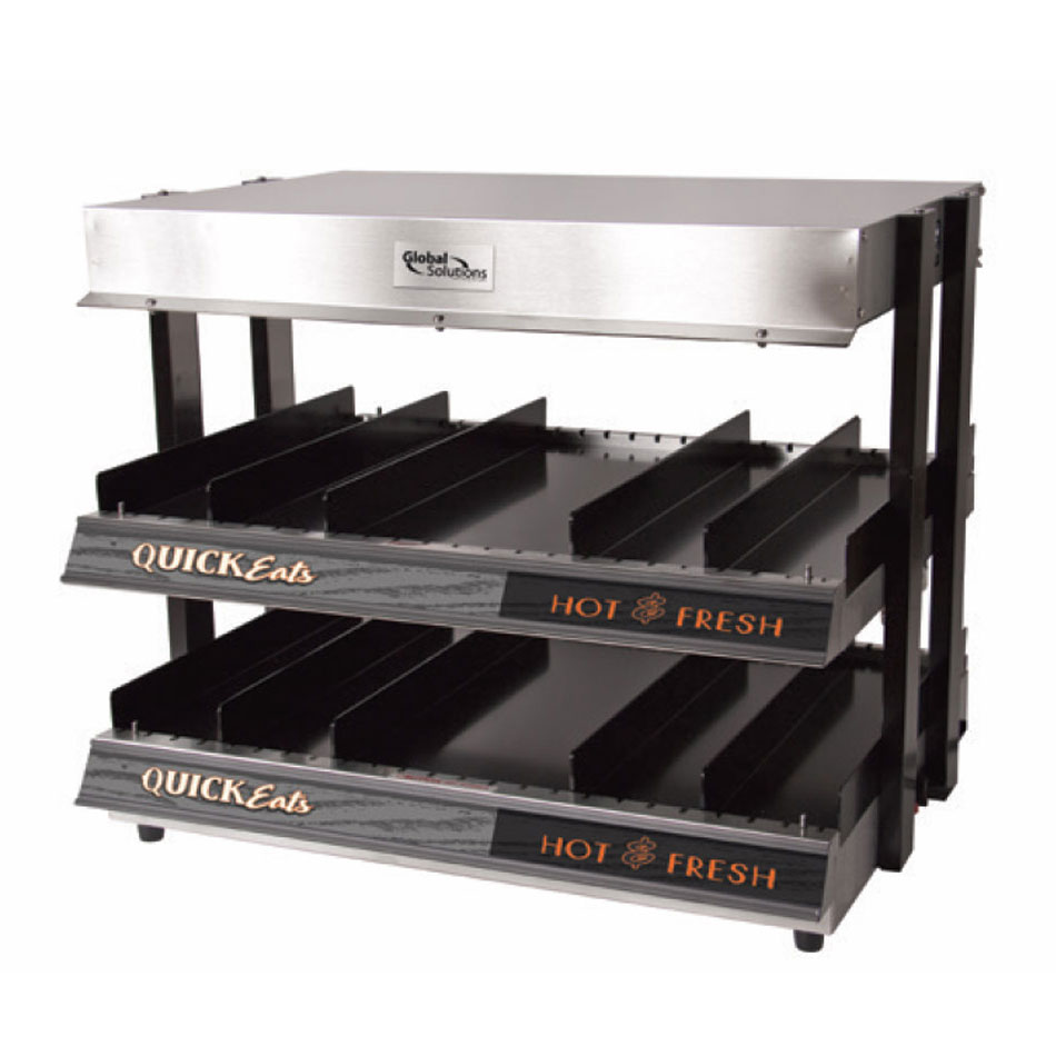 "Nemco GS1300-24 Global Solutions 18"" Self-Service Countertop Heated Display Shelf - (4) Shelves, 120v"