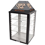 "Nemco GS1400-25-2 Global Solutions 18"" Self-Service Countertop Heated Display Case - (4) Shelves, 120v"