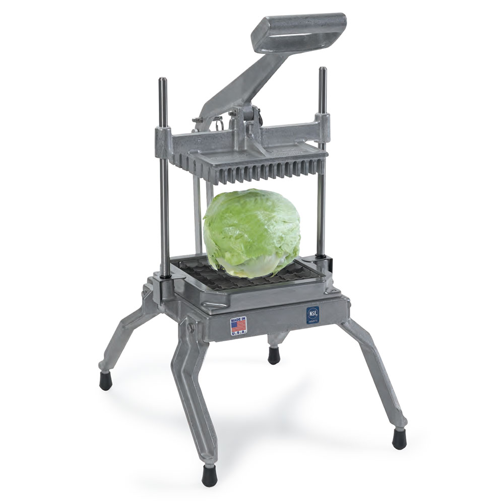 Nemco 55650 Angled Lettuce Cutter w/ 1-in Square & Interlocked Replaceable Scalloped Blades