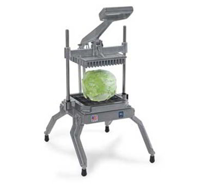 Nemco 55650-6 Angled Lettuce Cutter w/ .75x.75-in Square & Scalloped Interlocked Blades, Aluminum
