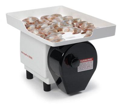Nemco 55925 Power Shrimp Cutter & Deveiner w/ Feeder Tray, Depth Rollers & Lubricant, 120/1V