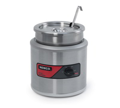 Nemco 6100A-220 7-qt Round Countertop Warmer w/ Adjustable Thermostat & 3.5-ft Cord, 220/1 V