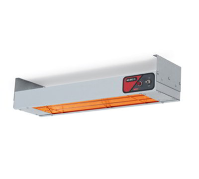 Nemco 6150-24-CP Bar Heater w/ Calrod Heating Element, Cord & Plug, 24.25x6.75x2.75-in, 120v