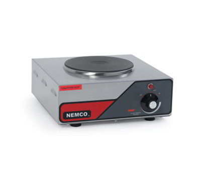 Nemco 6310-1 Hot Plate w/ Single Burner & 6-Position Temp Control, 5.5x12x13.5-in, 120V