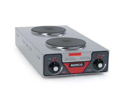 "Nemco 6310-3 120 Hot Plate w/ 2-Veritcal Burners & 6-Postion Temp Control 5.13x12.13x25.5"", 120v"