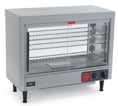 Nemco 6461 Heated Display Case w/ Sliding Doors, 3-Shelves & 23.75x28.13x13.06-in, 5.8-amp