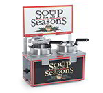 Nemco 6510A-2D4P Soup Warmer w/ Double 4-qt Well & Double Thermostat, 1000-Watt, 120/1 V
