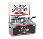 Nemco 6510-D7 Soup Warmer w/ Double 7-qt Well, Single Thermostat & Header, 1200-Watt, 120/1 V
