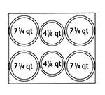 Nemco 66805 Adapter Plate w/ (4)7.25-qt & (2)4.13-qt Inset Holes For Model 6062A