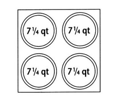 Nemco 67409 Adapter Plate w/ (4)7.25-qt Inset Holes For Model 6060A