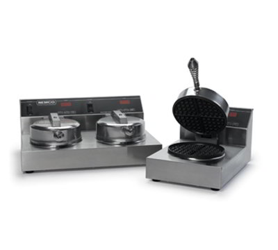 Nemco 7000-S240 Single Waffle Baker w/ Digital Control & Non Stick Coating, 3.7-amps 240/1V
