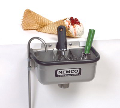 Nemco 77316-10 10-in Spade Cleaning Well w/ .38-in Round Spigot & Rubber Bumper, Stainless
