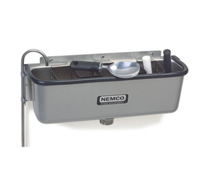 Nemco 77316-19 19-in Spade Cleaning Well w/ .38-in Round Spigot & Rubber Bumper, Stainless