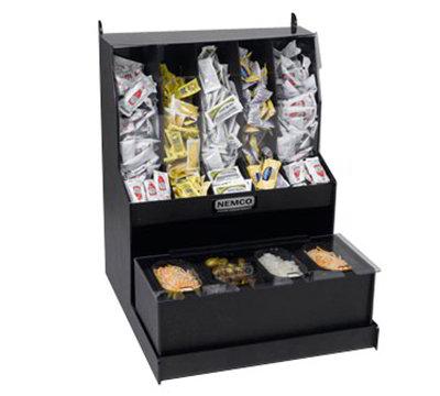 Nemco 88500-CO5 Hot Dog Condiment Organizer w/ Fresh Tray, 5-Upper & 4-Tray Compartments, Black