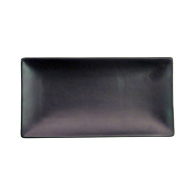 "CAC 666-13-BLK Japanese Style Rectangular Platter - 11-1/2x6-1/2x1-1/4"" Ceramic, Black"