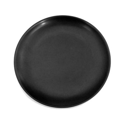 "CAC 666-16-BLK 10"" Japanese Style Coupe Dinner Plate - Ceramic, Black"