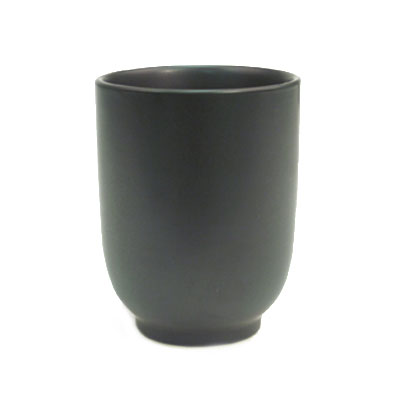 CAC 666-1-BLK 8-oz Japanese Style Cup - Ceramic, Black