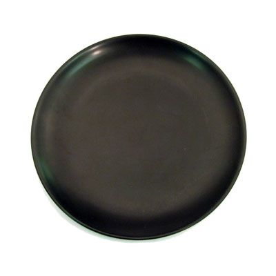 "CAC 666-21-BLK 12"" Japanese Style Coupe Dinner Plate - Ceramic, Black"