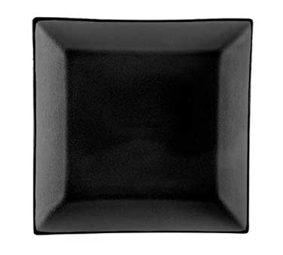"Cac International 666-8-BLK 9"" Japanese Style Square Dinner Plate - Ceramic, Black"