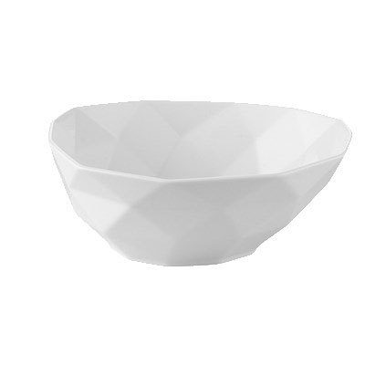 CAC ART-B7 26-oz Art Deco Soup/Salad Bowl - Porcelain, Bone White
