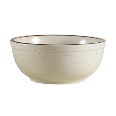 CAC International AZ15 12.5-oz Arizona Bowl - Ceramic, Brown/American White