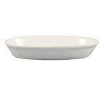 "Cac International BKW2 8-oz Accessories Oval Baking Dish - 7x4-3/4x1-1/4"", Porcelain, Super White"