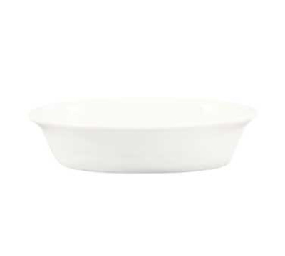 "CAC BKW9 9-oz Accessories Oval Baking Dish - 6-1/2 x 4-1/4 x 1-3/8"", Porcelain, Bone White"