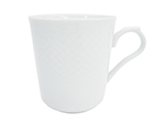 CAC BST17 8-oz Boston Mug - Embossed Porcelain, Super White