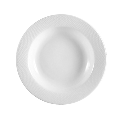 CAC BST120 22-oz Boston Pasta Bowl - Embossed Porcelain, Super White