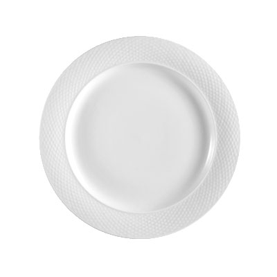 "CAC BST6 6.5"" Boston Bread Plate - Embossed Porcelain, Super White"