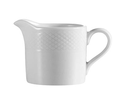 """CAC International BSTPS 2.5"""" Boston Pepper Shaker - Embossed Porcelain, Super White"""